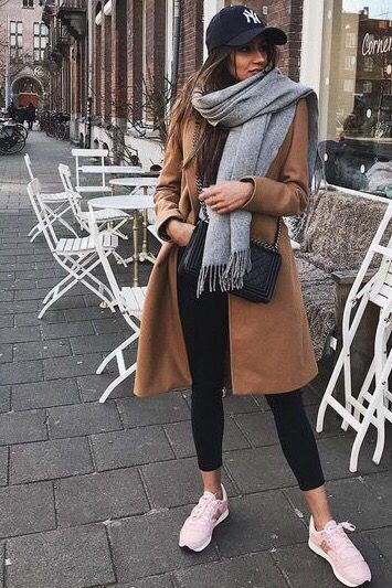 Soft Women's Brused Long Fringed Scarf | Classy winter outfits .