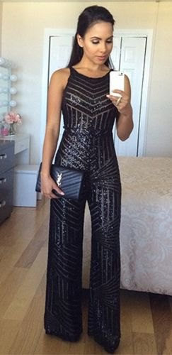 How to Wear Sparkly Jumpsuit: 15 Stunning Outfit Ideas - FMag.c