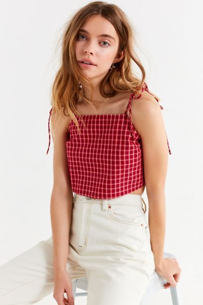 UO Square-Neck Tie –Strap Cami | Fashion, Urban outfitters style .