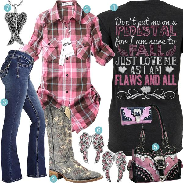 Flaws And All Corral Square Toe Boot Outfit – Real Country Ladi