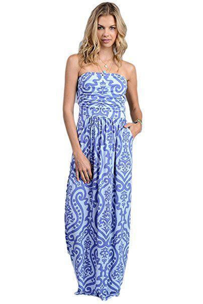 Vanilla Bay Baroque Maxi Dress at Amazon Women's Clothing store .