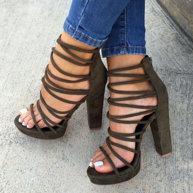 Shoes, Heels, Sandals, High Heels, Gladiator Sandals, Strappy Heel .