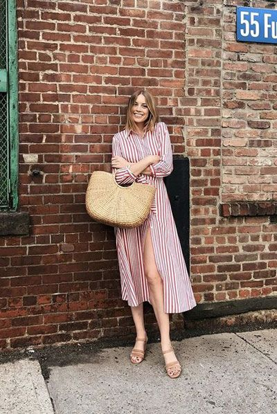 How to Wear a Straw Tote Bag This Summer - 45 Amazing Outfits .