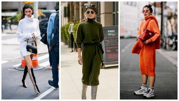 21 Street Style Photos That Will Make You Obsess Over Sweater Dress