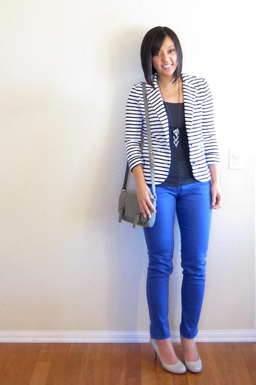 Striped Blazer Ideas - Putting Me Togeth
