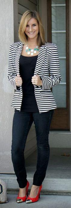 334 Best How To Wear Striped Blazer
