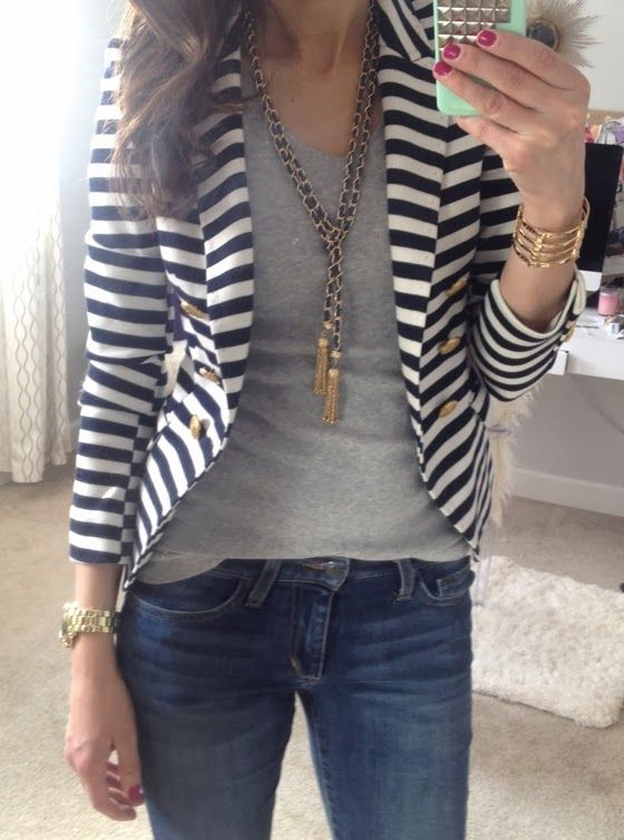 snap-shots | Striped blazer, Fashion, Cloth