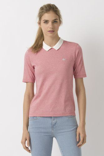 Lacoste L!VE Half Sleeve Jersey Striped Polo : Women | Polo shirt .