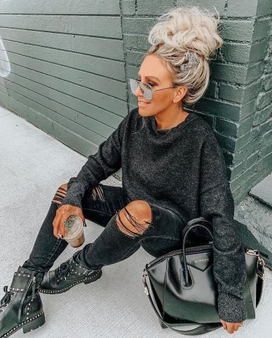 30+ Super Cute Fall Outfit Ideas For Women | Combat boots dress .