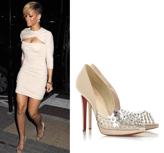 Mail Bombs: Rihanna's Christian Louboutin Studded Pumps, Kim .