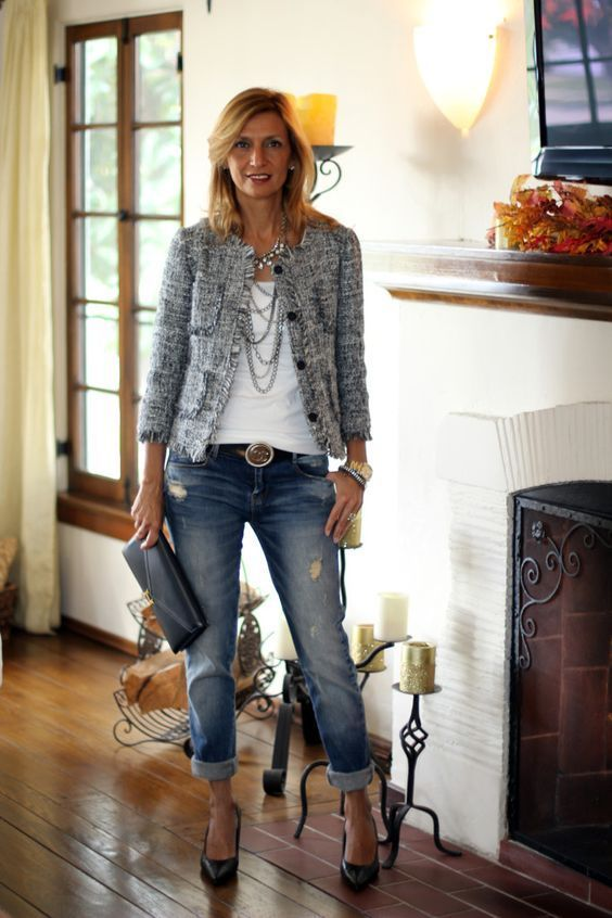 Boucle Jackets A Timeless Classic | Fashion, Fashion days, Blazer .