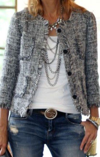 Boucle Jacket | Denim jacket women, Womens fashion jackets, Cloth
