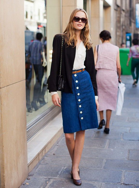 Midi Skirts For Work And Office Wear Ideas | Lo
