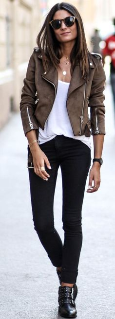 530 Best Moto Jacket images | Fashion, Autumn fashion, Moto jack