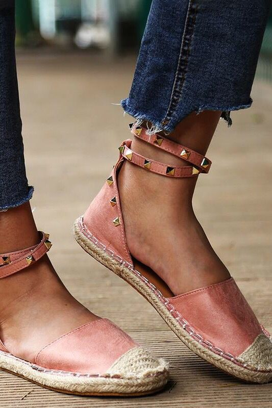 Flat Sandals Fashion Shoes in 2020 | Summer shoes, Suede flats .