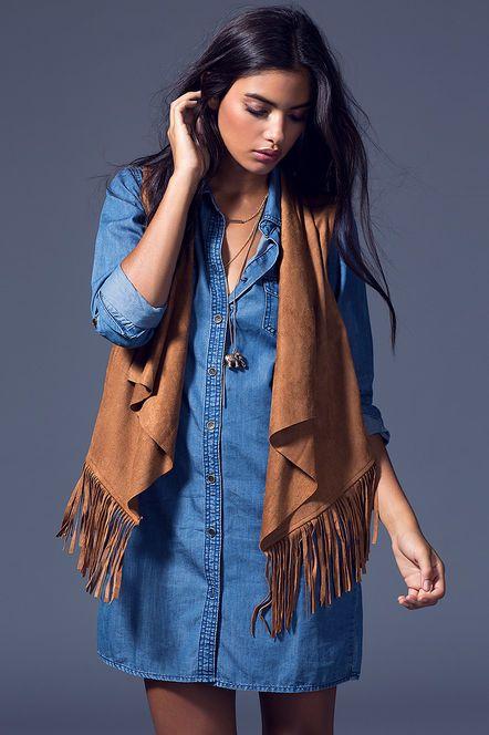 Naven Suede Fringe Vest | Fashion, Fringe clothing, Fringed vest .