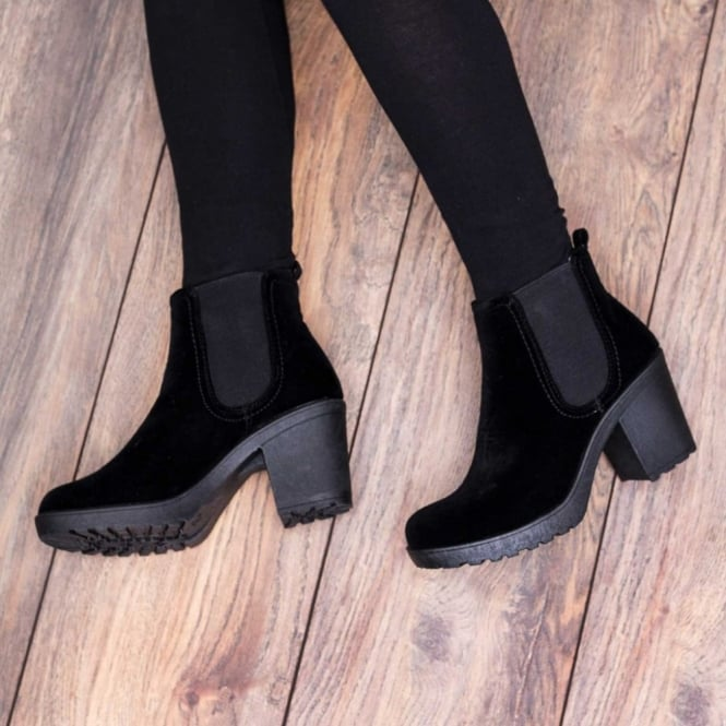 SPYLOVEBUY | YAEL Black Ankle Boots Shoes at Spylovebuy.c