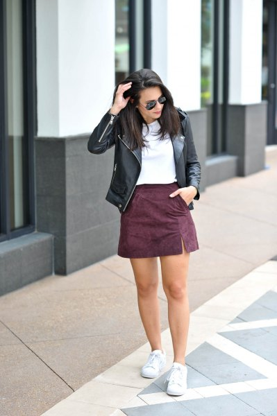 Top 15 Suede Mini Skirt Outfit Ideas: Style Guide for Ladies .