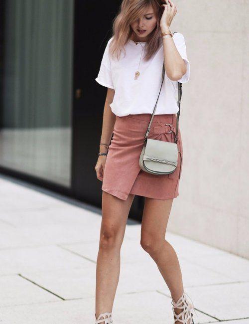Women's Wrap Around Suede Mini Skirt | Mini skirts, Suede mini .