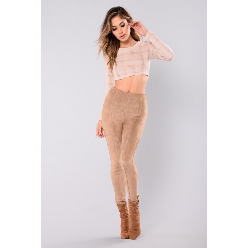 Siena Stretch Suede Pants - Mocha Women Pants Cheap hFTF7l