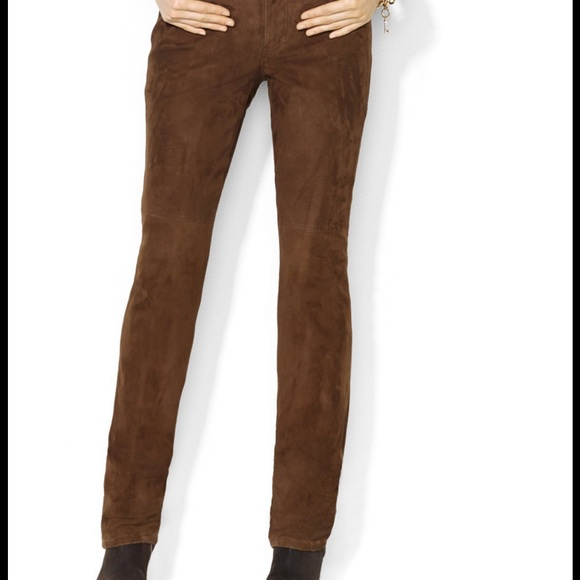 Talbots Pants | Brown Faux Suede | Poshma