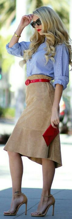 70 Best HOW TO WEAR SUEDE SKIRT images | Suede skirt, Style, How .