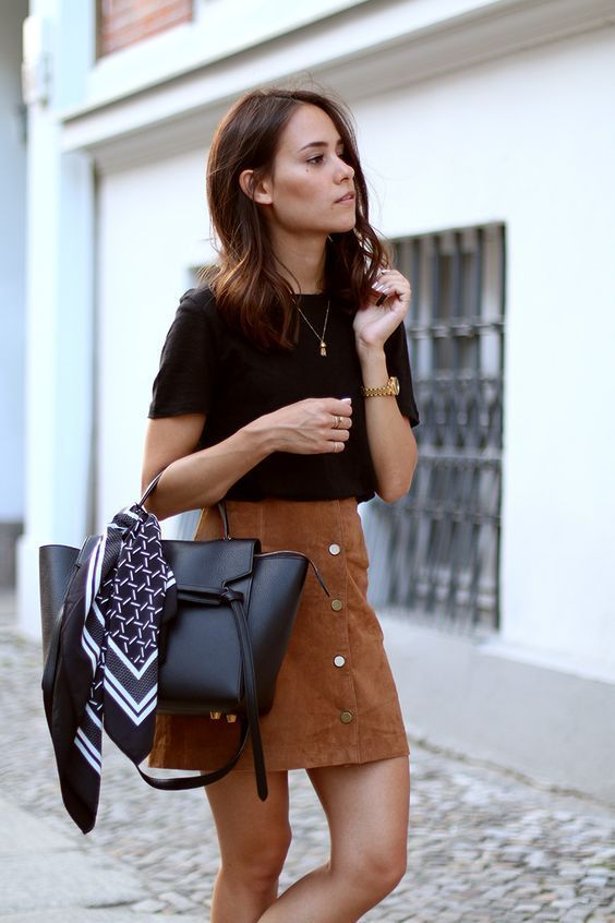 How to wear a suede skirt 15 outfit ideas - Page 8 of 15 | Fashion .