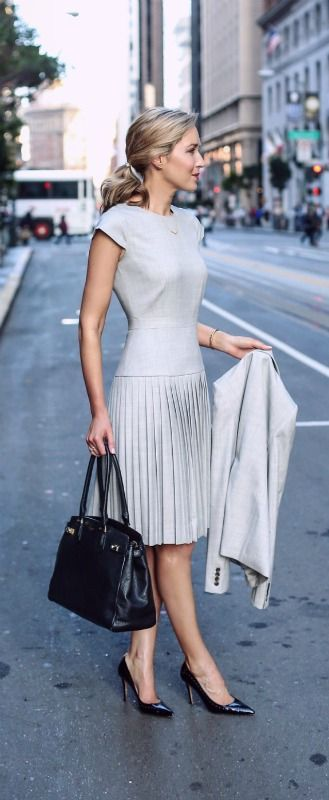 Ways To Wear Grey and outfit ideas | Fashion, Interview dress .