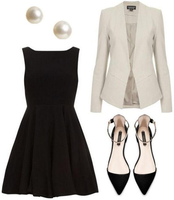 20 Cute Outfit Ideas with Black Dresses | Professionele kledi