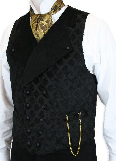 Gramercy Vest - Black Velvet | Mens fashion:__cat__, Steampunk .