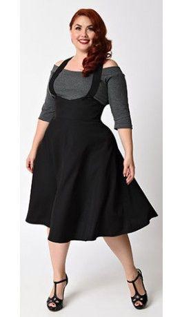 Plus size circle skirt suspender | Plus Size Outfits Ideas .