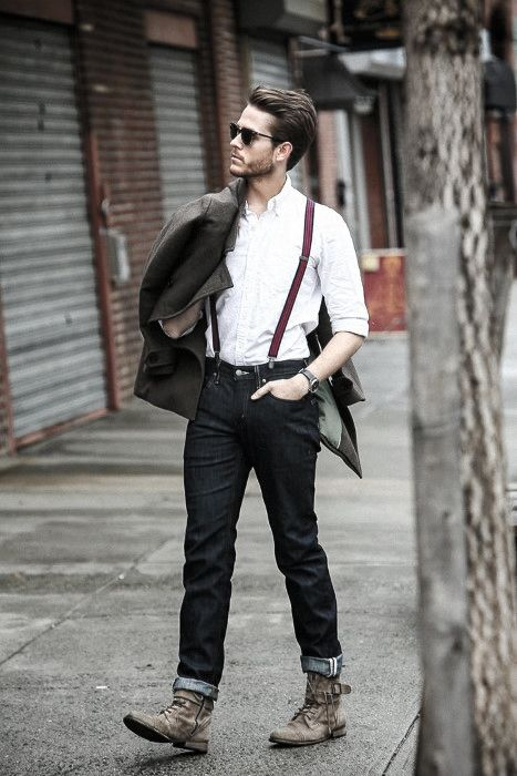 How To Wear Suspenders With Jeans For Men - 30 Male Fashion Styles .
