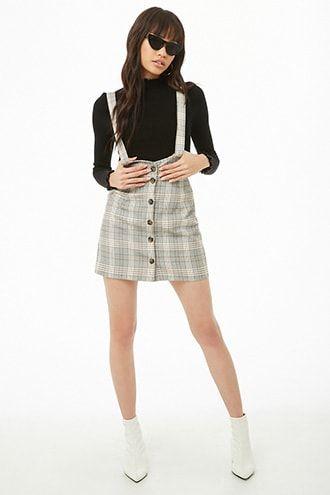 Plaid Overall Skirt | Ropa, Moda de ropa, Ropa de mo