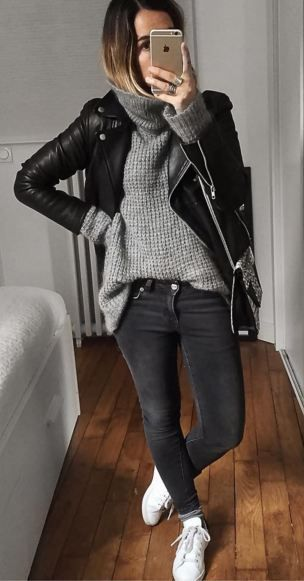 This is the kind of outfit I´ll definitely wear: black jeans .