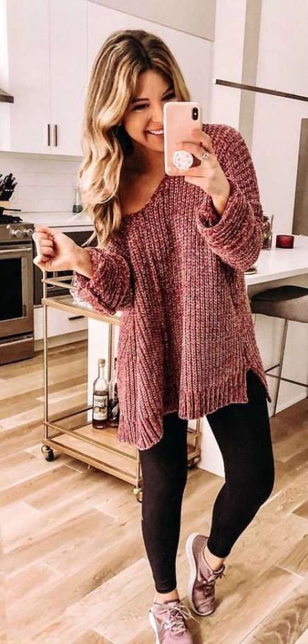 How to wear black leggings fall outfits winter fashion 54+ best .