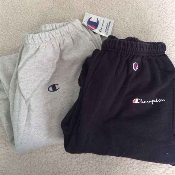 Black champion pants | Champion clothing, Champion sweatpants .