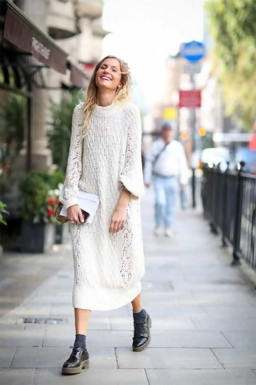 How to Wear a Sweater Dress: 6 Cool Outfit Ide