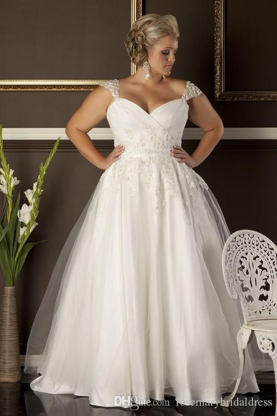 Discount A Line Plus Size Wedding Dresses Cheap Sweetheart .