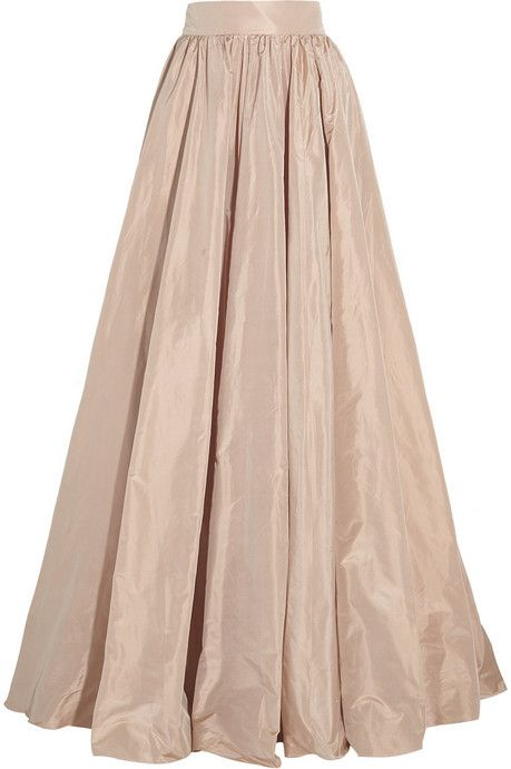 Pleated silk-taffeta maxi skirt | Long pink skirt, Silk maxi skirt .