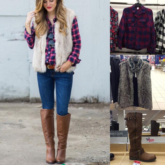 Fall Outfit Pinspiration: Brighton Keller's Plaid Shirt, Faux Fur .