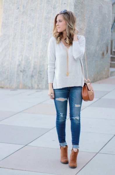 How to Style Tan Ankle Boots: Best 13 Stylish & Boyish Outfit .