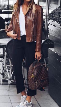 91 Best Brown leather jacket outfits images | Leather jacket .