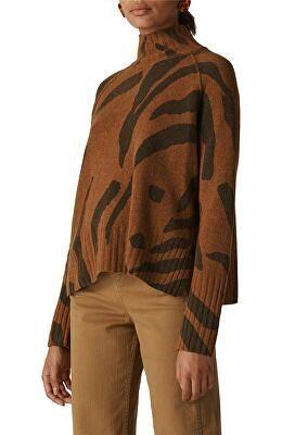 WHISTLES Designer Animal Stripe Merino Wool Sweater | Avivey .