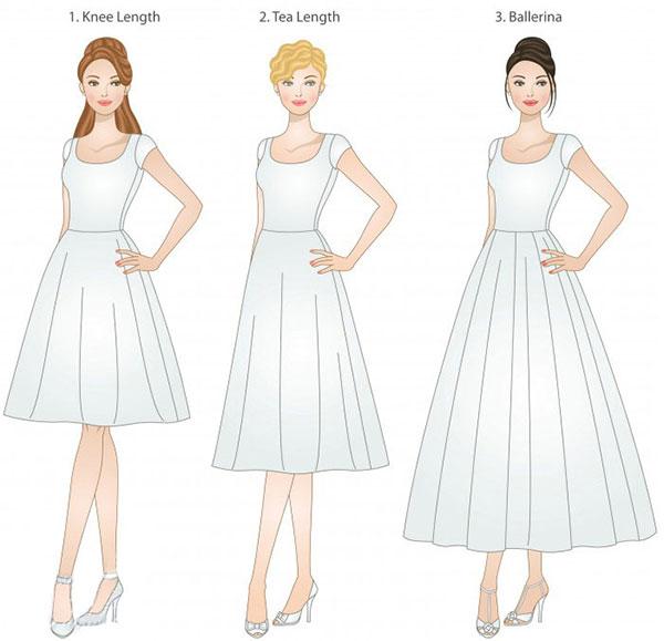 Knee Length Wedding Dresses Sketches – Fashion dress