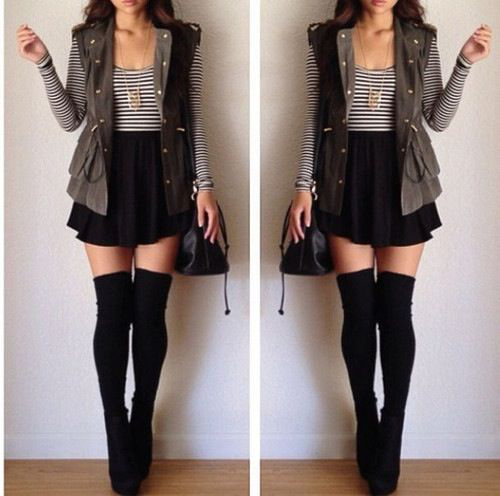 20 Style Tips On How To Wear Thigh-High Socks: Outfit Ideas | Gurl.c