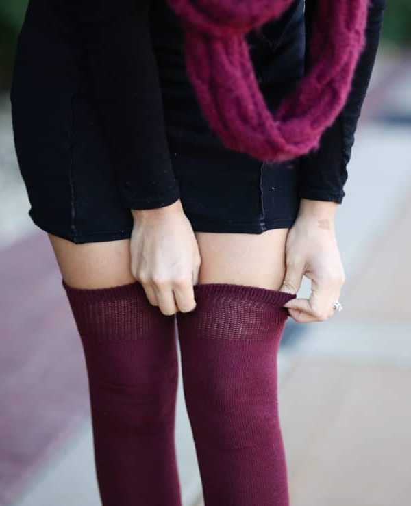 Thigh High Socks Outfit Ideas - MY CHIC OBSESSI