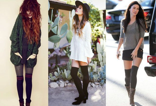 How to Wear Thigh High Socks? 12 Ways | High socks outfits, Thigh .