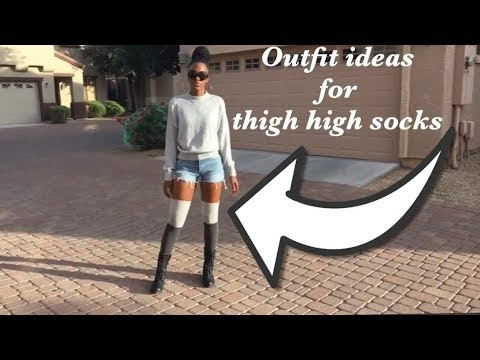 Outfit Ideas for Thigh High Socks Pt. 1 ShopShardai Lookbook| H&M .