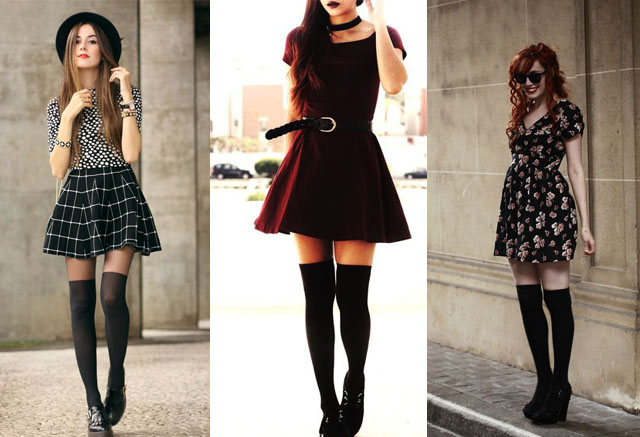 How to Wear Thigh High Socks? 12 Ways & Outfit Ideas | Fashion Rul
