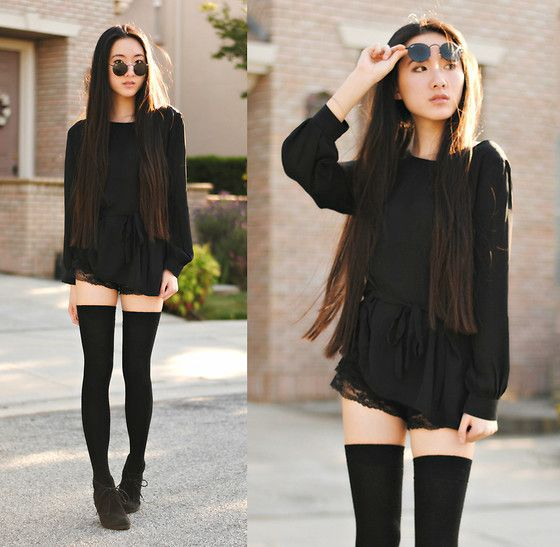 20 Style Tips On How To Wear Thigh-High Socks: Outfit Ideas | Gurl .